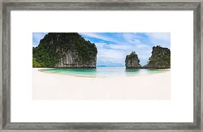 White Sandy Beach In Thailand Framed Print