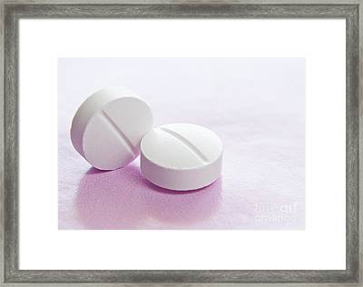 White Tablets Framed Print by Blink Images