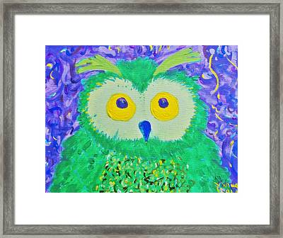 WHO Framed Print by Yshua The Painter