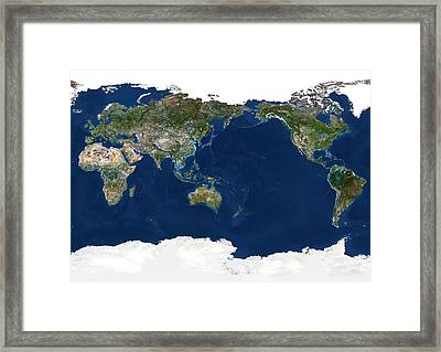 Whole Earth, Satellite Image Framed Print by Planetobserver
