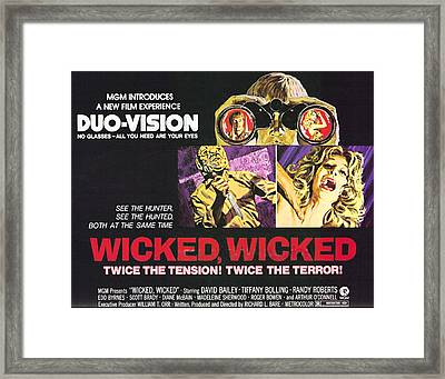 Wicked, Wicked, Top And First From Left Framed Print by Everett