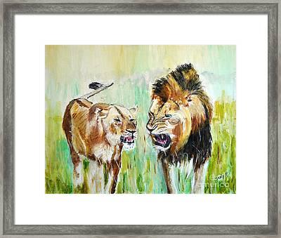 wild Kingdom Framed Print by Judy Kay