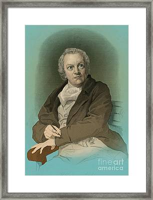 William Blake, English Poet And Painter Framed Print by Photo Researchers