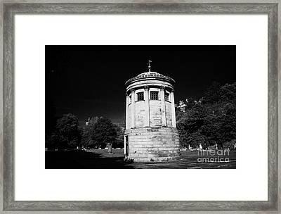 William Huskisson Memorial In St James Cemetery Liverpool Merseyside England Uk  Framed Print by Joe Fox