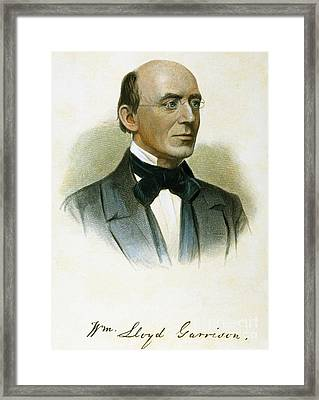 William Lloyd Garrison Framed Print
