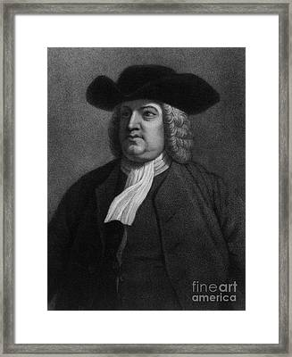 William Penn, Founder Of Pennsylvania Framed Print by Photo Researchers