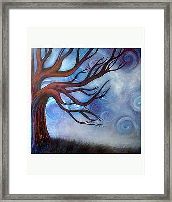 Framed Print featuring the painting Wind by Monica Furlow