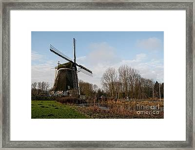 Windmill In Amsterdam Framed Print by Carol Ailles