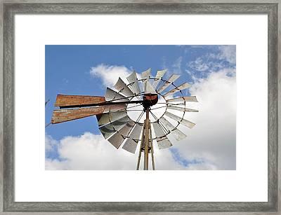 Windmill Framed Print by Teresa Blanton