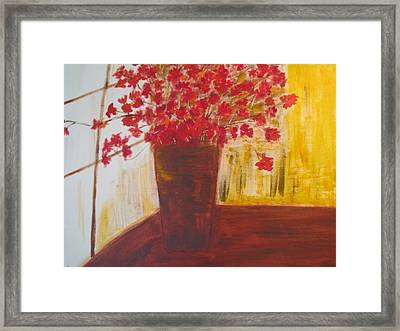 Window Flowers Framed Print by Brindha Naveen