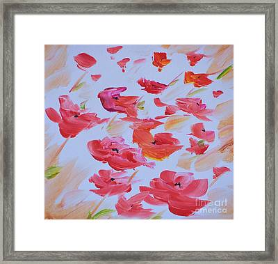 Windy Poppies No. 1 Framed Print