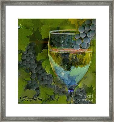 Wine Glass Framed Print by Stephanie Laird
