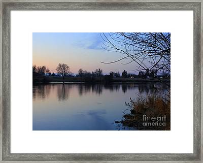 Winter Calm Framed Print by Carol Groenen