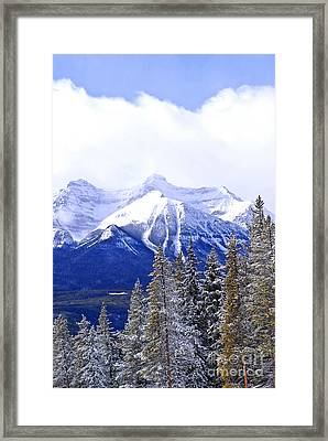 Winter Mountains Framed Print by Elena Elisseeva