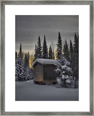 Winter Solitude Framed Print by Heather  Rivet
