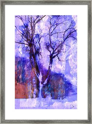 Winter Tree Framed Print by Ron Jones