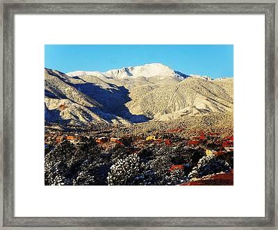 Wintery Colorado Morning Framed Print by Clarice  Lakota