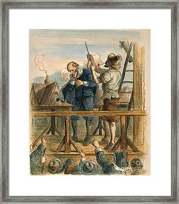 Witch Trial: Execution, 1692 Framed Print by Granger