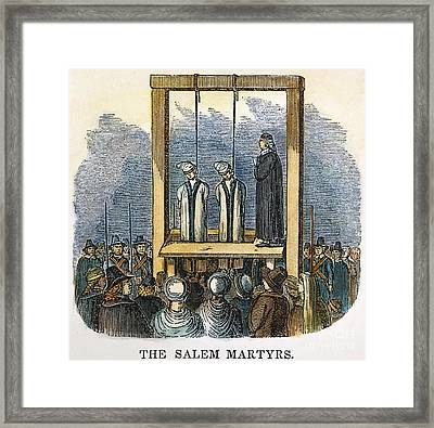 Witches: Execution, 1692 Framed Print by Granger
