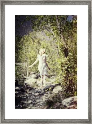 Woman In A Forest Framed Print by Joana Kruse