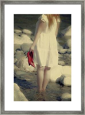 Woman In A River Framed Print by Joana Kruse