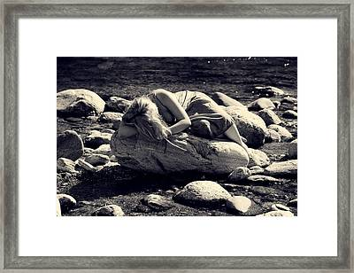 Woman In River Framed Print by Joana Kruse