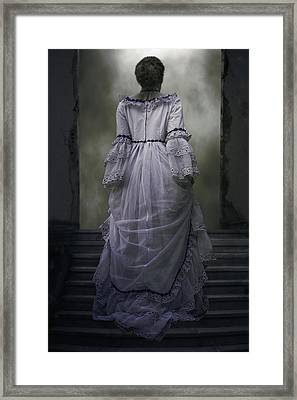 Woman On Steps Framed Print by Joana Kruse