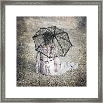 Woman On Street Framed Print by Joana Kruse
