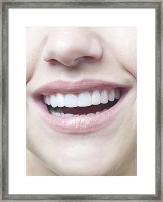 Woman's Smile Framed Print