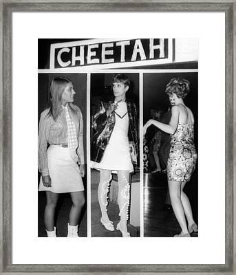 Women Wearing Miniskirts Framed Print by Everett