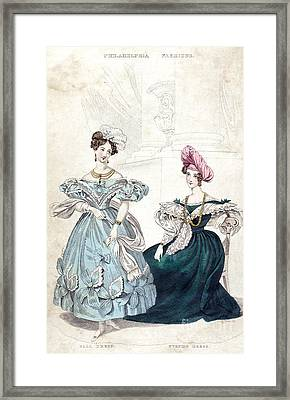 Womens Fashion, 1833 Framed Print by Granger