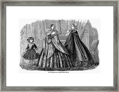 Womens Fashion, 1859 Framed Print