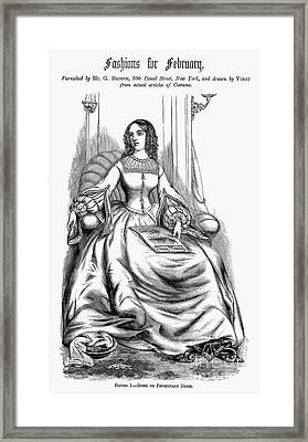Womens Fashion, 1860 Framed Print