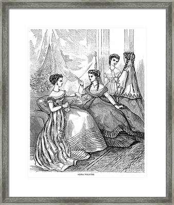 Womens Fashion, 1867 Framed Print by Granger