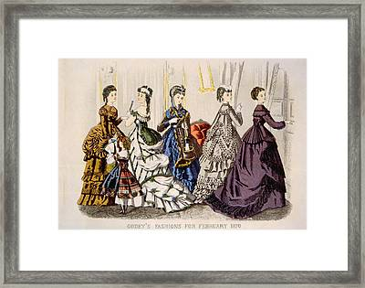 Womens Fashions From Godeys Ladys Book Framed Print by Everett