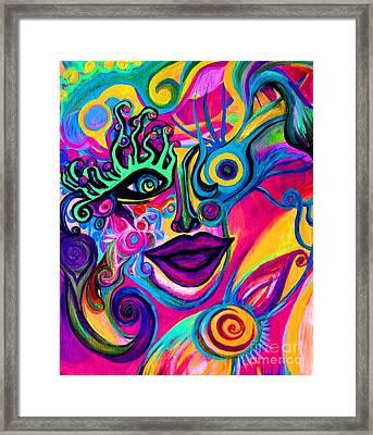 Wonkey Framed Print by Joy Tagliavia