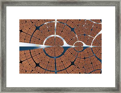 Wood And Titanium Framed Print by Mark Eggleston