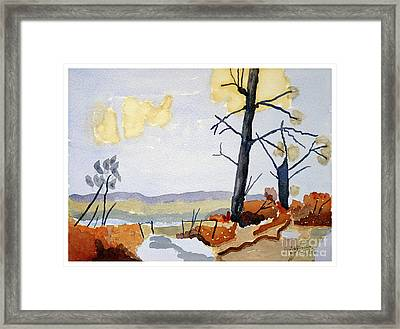 Wooded Landscape Framed Print