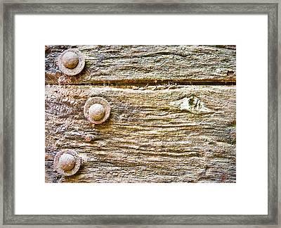 Wooden Background Framed Print