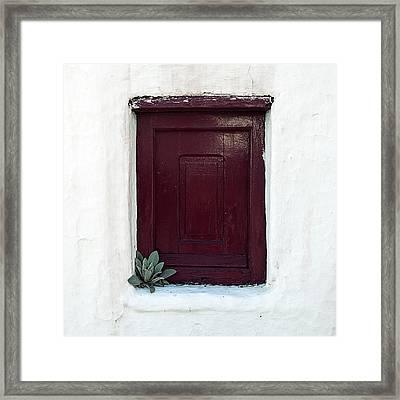 Wooden Window Framed Print by Joana Kruse