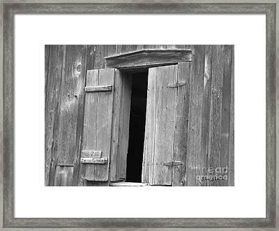Wooden Window Framed Print by Yumi Johnson