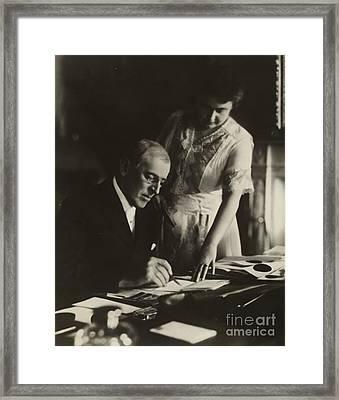 Woodrow Wilson, 28th American President Framed Print
