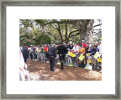 Working The Line Framed Print