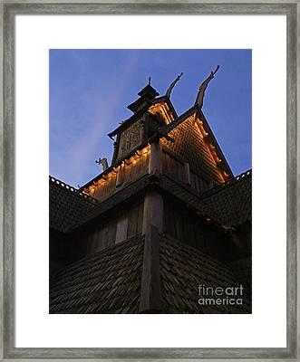 World Showcase - Norway Pavillion Framed Print by AK Photography