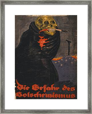 World War I, Bolshevism, Poster Shows Framed Print by Everett