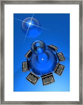 World Wide Web, Conceptual Artwork Framed Print