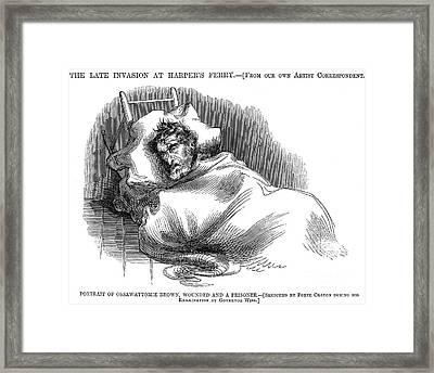 Wounded John Brown, 1859 Framed Print by Granger