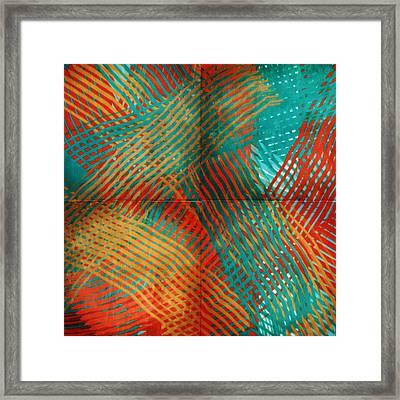 Woven Framed Print by Bonnie Bruno