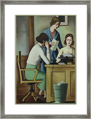 Wpa Mural. Contemporary Justice Framed Print by Everett