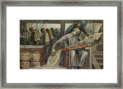 Wpa Mural. Fresco Painting By Henry Framed Print by Everett